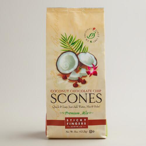 Sticky Fingers Bakeries Coconut Choco Chip Scones, Set of 6