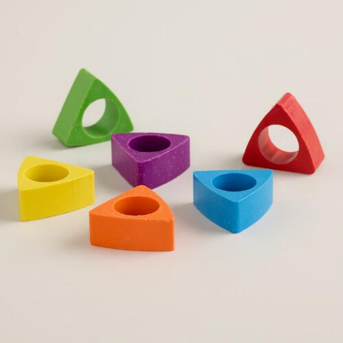 Crazy Crayon Rings, Set of 6