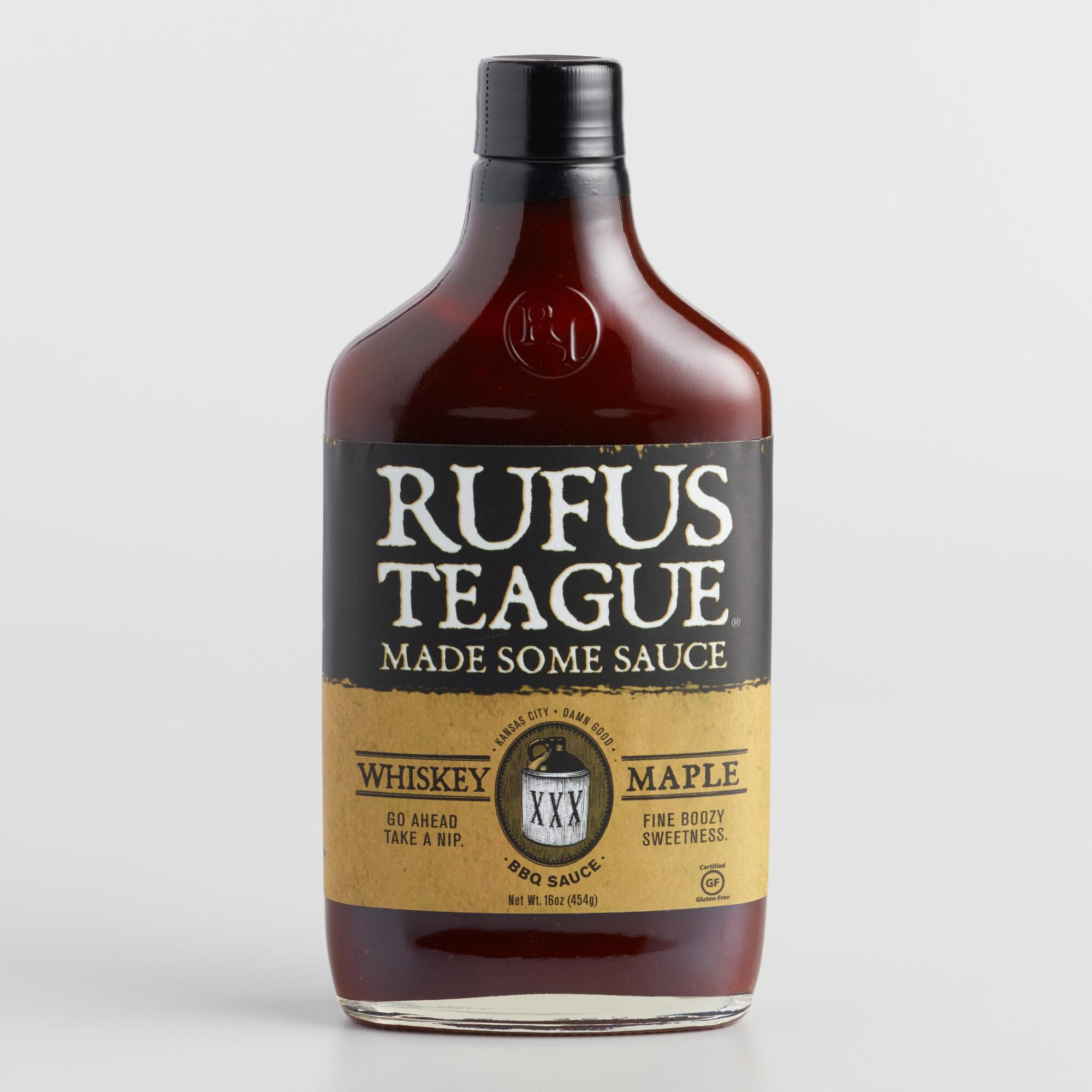 Rufus Teague Whiskey Maple BBQ Sauce, Set of 2 | World Market