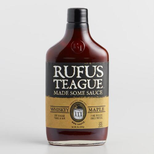 Rufus Teague Whiskey Maple BBQ Sauce, Set of 2