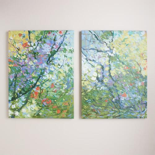 """Springtide I"" and ""Springtide II"" by Kim Coulter, Set of 2"