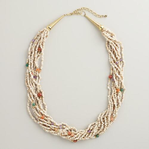 Natural Semi-Precious Beaded Necklace