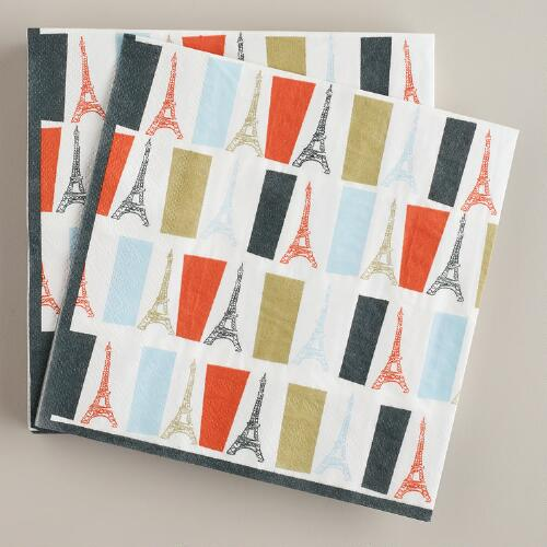 Parisian Lunch Napkins, 20-Pack