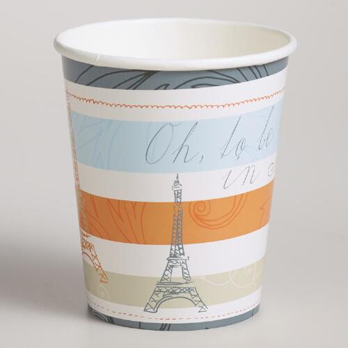 Parisian Paper Cups, 12-Pack
