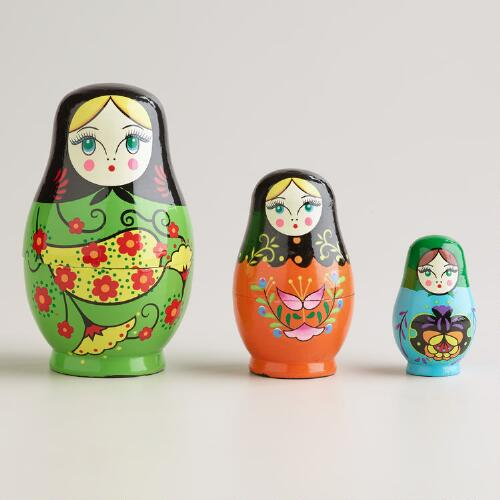 Russian Nested Dolls, Set of 3