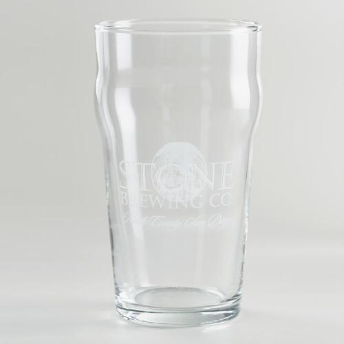 Stone English Pint Glasses, Set of 2