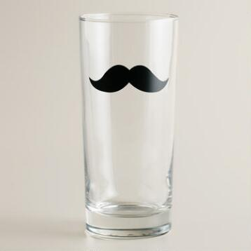 Mustache Highball Glasses, Set of 2