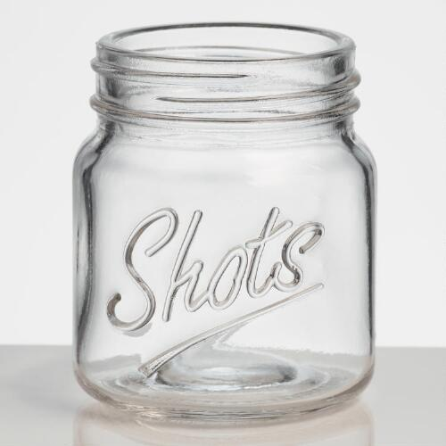 Mason Jar Shot Glasses, Set of 4