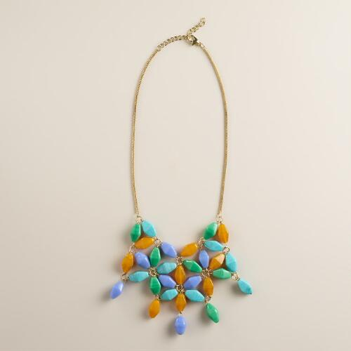 Beaded Multi-Strand Statement Necklace