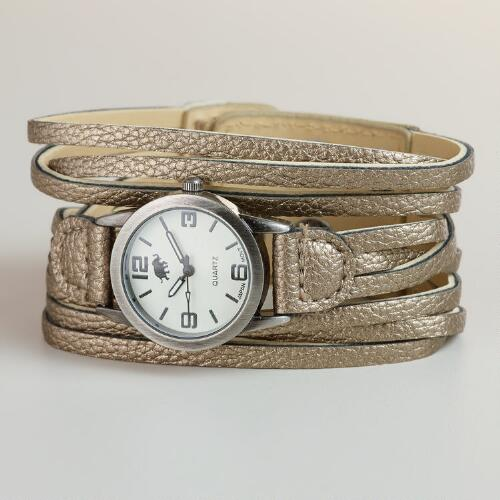 Silver Multi-Strand Watch