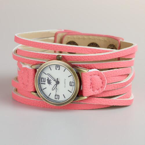 Fuchsia Multi-Strand Watch