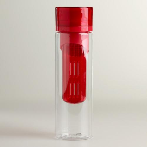 Red Flavor Infuser Water Bottle