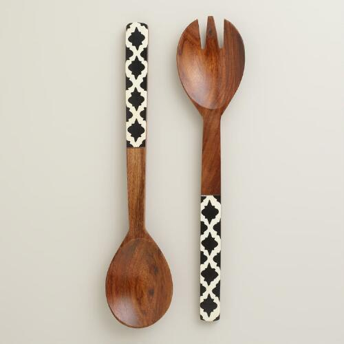 Sheesham Jali Salad Servers