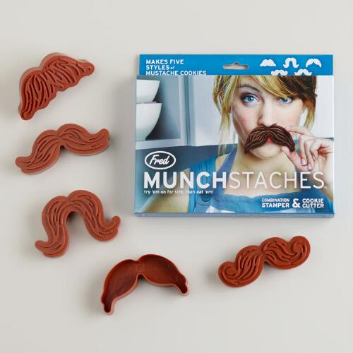 Munchstache Cookie Stamps, 5-Count