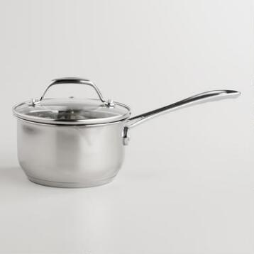 Stainless Steel Mini Saucepan with Tempered Glass Lid