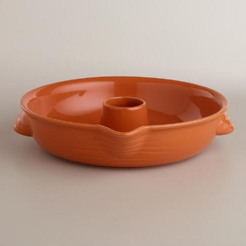 Persimmon Ceramic Vertical Chicken Roaster