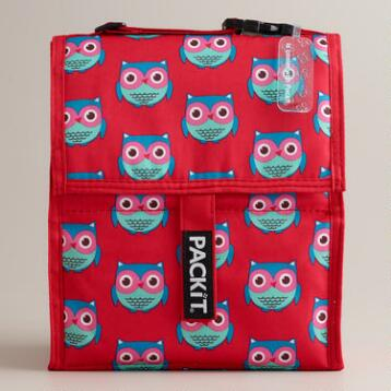Owls PackIt Freezable Lunch Bag