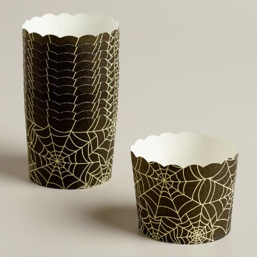 Spider Webs Halloween Freestanding Treat Liners, 12-Count