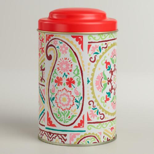Paisley Patch Tea Tin
