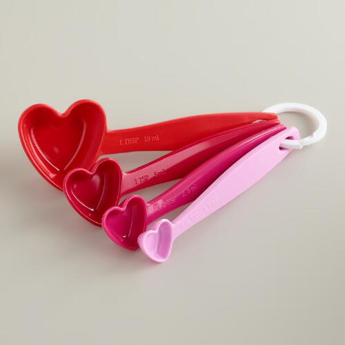 Hearts Melamine Measuring Spoons