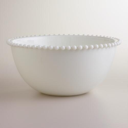 Large Milk Glass Mixing Bowl