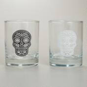 Muertos Double Old Fashioned Glasses, Set of 2