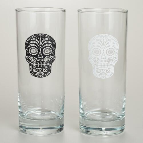 Muertos High Ball Glasses, Set of 2