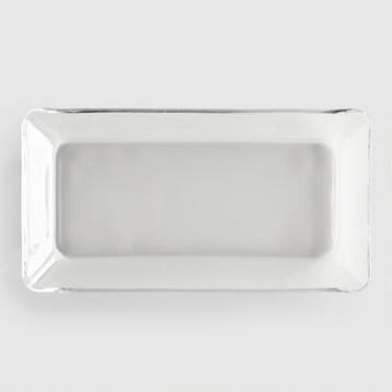 Tempo Rectangle Glass Plates, Set of 4