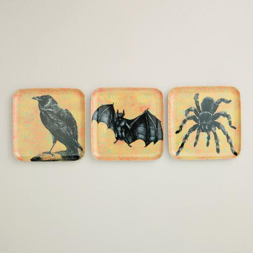 Melamine Spooky Creatures Plates, Set of 3