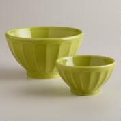 Green Cafe Bowls, Set of 2