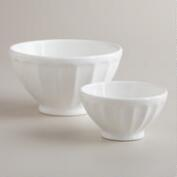 White Cafe Bowls, Set of 2