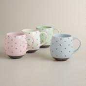 Dotted Mugs, Set of 4