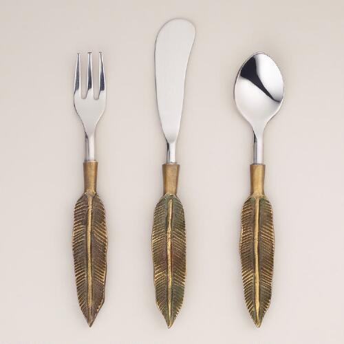 Feather Cocktail Flatware Collection
