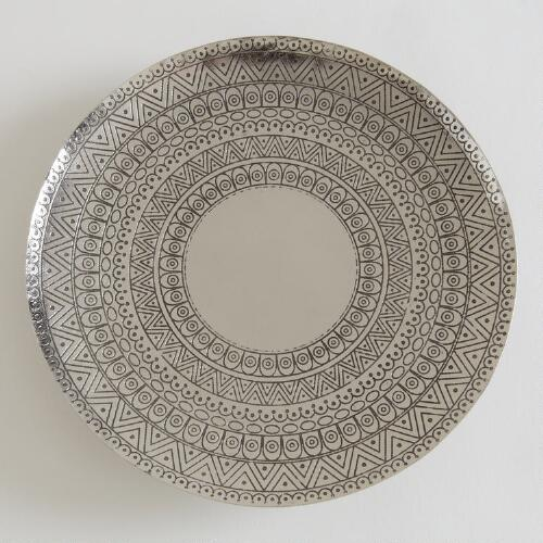 Large Embossed Pillar Candle Plates