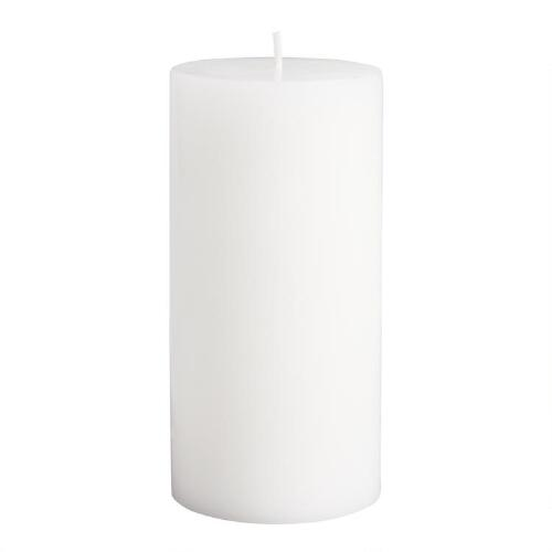"3"" x 6"" White Unscented Pillar Candle"