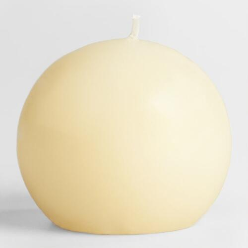 Ivory Unscented Ball Candle