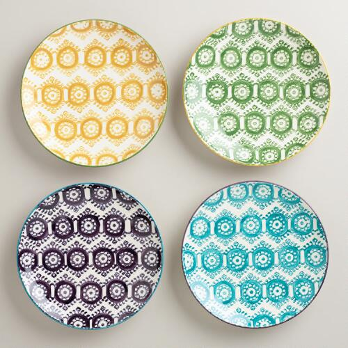 Painterly Geo Plates, Set of 4