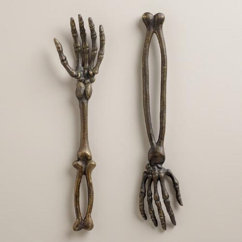 Skeleton Hand Servers, Set of 2