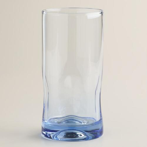 Blue Impressions Highball Glasses, Set of 4
