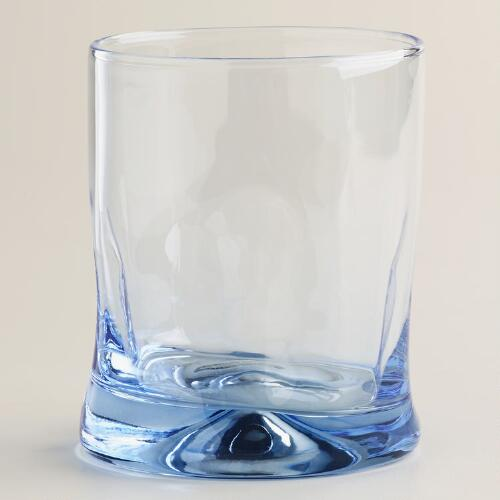 Blue Impressions Double Old-Fashioned Glasses, Set of 4