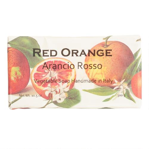 Red Orange Organic Italian Vegetable Soap