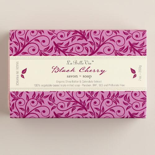 Black Cherry La Bell Vie Bar Soap