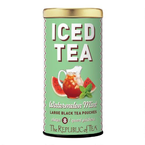 The Republic of Tea Watermelon Mint Black Iced Tea, 8-Count