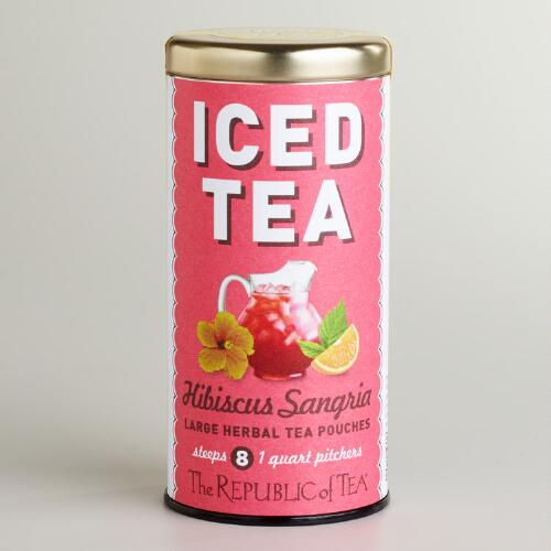 The Republic of Tea Hibiscus Sangria Iced Tea, 8-Count