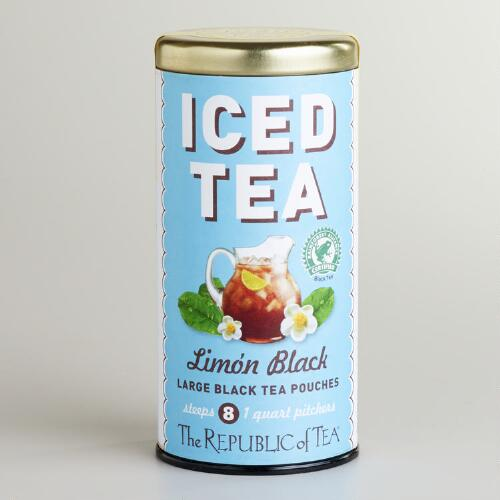The Republic of Tea Limón Black Iced Tea, 8-Count