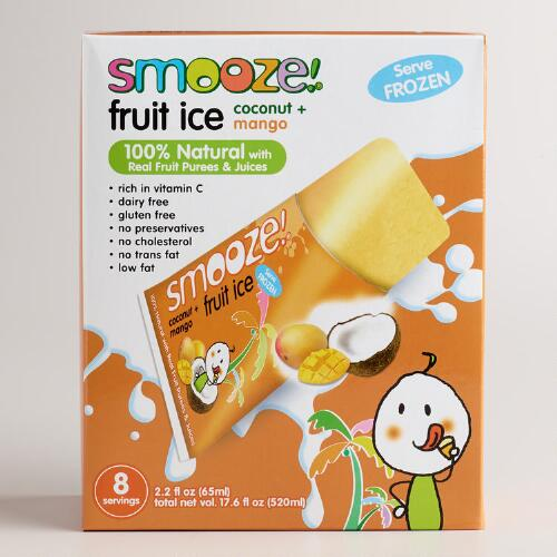 Smooze Mango All Natural Fruit Ice, 8-Count