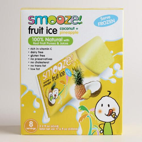 Smooze Pineapple All Natural Fruit Ice, 8-Count