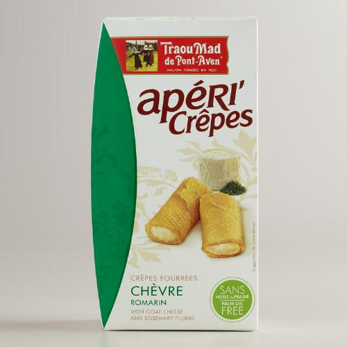 Apericrêpes with Goat Cheese and Rosemary