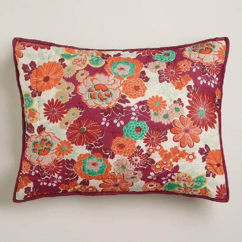 Misaki Floral Pillow Shams, Set of 2