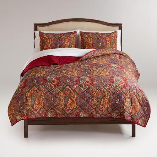 Red Rialto Paisley Quilt